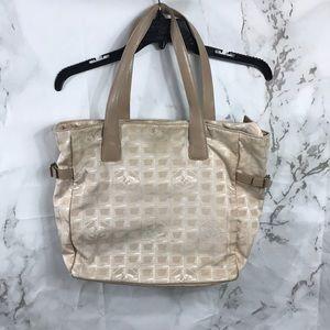 Chanel travel line bag purse tote cc Logo 7